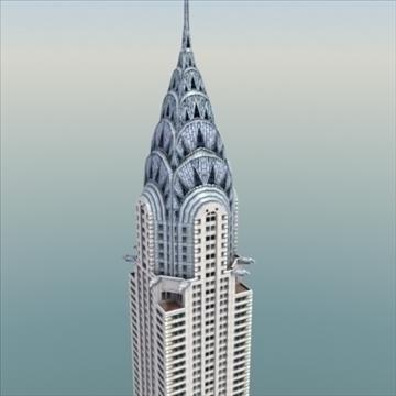 chrysler building nyc 3d múnla 3ds max fbx le h-uigeacht uigeacht 99368