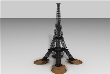 eiffel tower 1 3d model 3ds c4d 109300