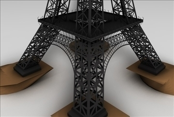 eiffel tower 1 3d model 3ds c4d 109301