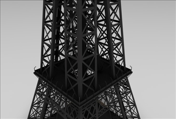 eiffel tower 1 3d model 3ds c4d 109302