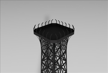 eiffel tower 1 3d model 3ds c4d 109303