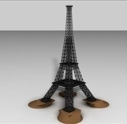 Eiffel Tower Model ( 25.55KB jpg by matttrout )
