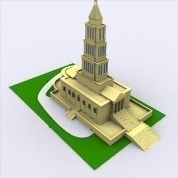 george washington masonic temple 3d model 3ds max 98218