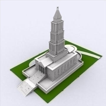 george washington masonic templis 3d modelis 3ds max 98219
