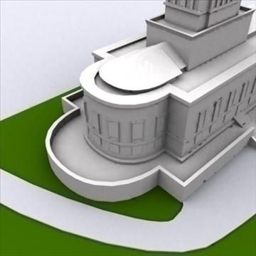 george washington masonic templis 3d modelis 3ds max 98221
