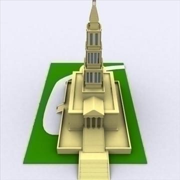george washington masonic templis 3d modelis 3ds max 98222
