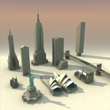 landmarks volume 01 3dmodel collection 3d model 3ds max fbx lwo ma mb hrc xsi obj 100453