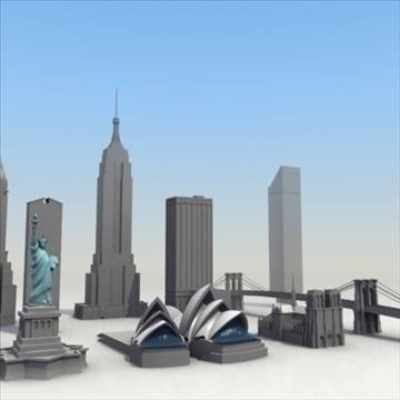 landmarks volume 01 3dmodel collection 3d model 3ds max fbx lwo ma mb hrc xsi obj 100455