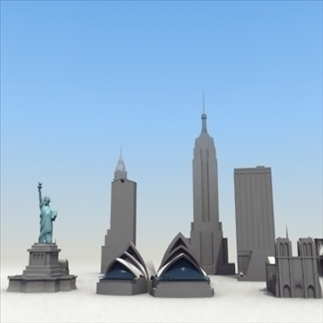 landmarks volume 01 3dmodel collection 3d model 3ds max fbx lwo ma mb hrc xsi obj 100458