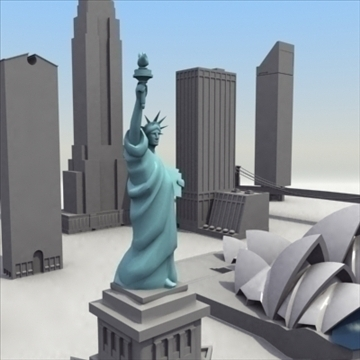landmarks volume 01 3dmodel collection 3d model 3ds max fbx lwo ma mb hrc xsi obj 100459