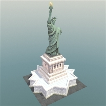liberty island scene statue of liberty 3d model 3ds max fbx lwo ma mb hrc xsi texture obj 107689
