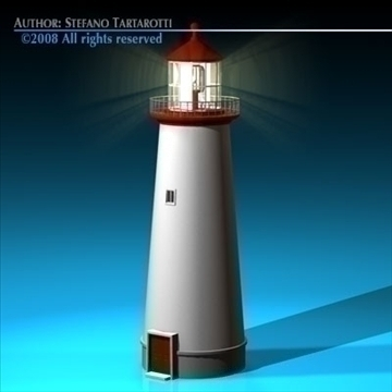 lighthouse 3d model 3ds dxf c4d obj 89857
