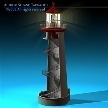lighthouse 3d model 3ds dxf c4d obj 89858