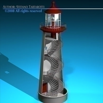 lighthouse 3d model 3ds dxf c4d obj 89860