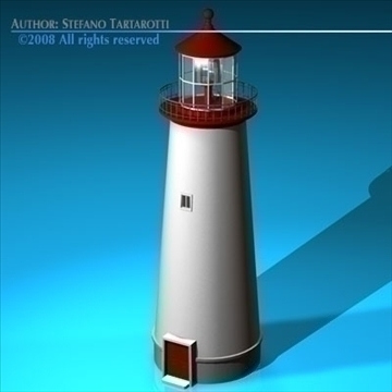 lighthouse 3d model 3ds dxf c4d obj 89861