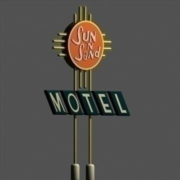 motel signs x 5 3d model 3ds 95870