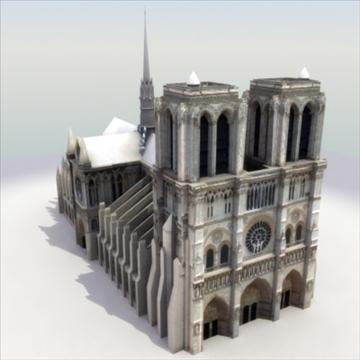 notre dame de paris cathedral 3d model 3ds max fbx lwo ma mb hrc xsi texture obj 100066