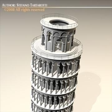 pisa tower 3d model 3ds dxf c4d obj 92284