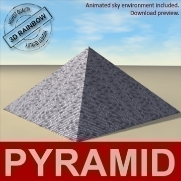 pyramid. 3d model 3ds max c4d ma mb 3dm pz3 pp2 other 94894