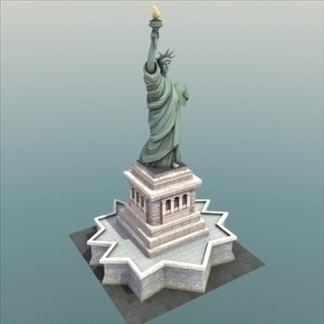 statue of liberty 3d model 3ds max fbx ma mb texture obj 99280