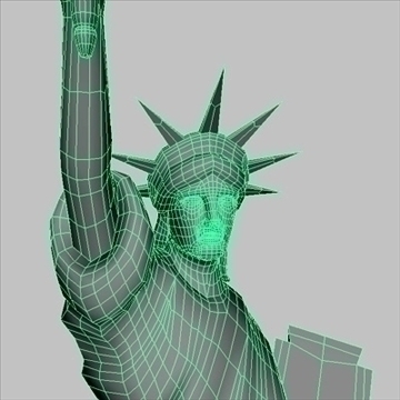 statue of liberty 3d model 3ds max fbx ma mb texture obj 99281