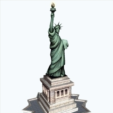 statue of liberty 3d model 3ds max fbx ma mb texture obj 99282
