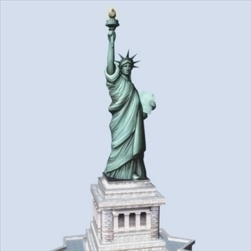 statue of liberty 3d model 3ds max fbx ma mb texture obj 99283