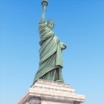statue of liberty 3d model 3ds max fbx ma mb texture obj 99284
