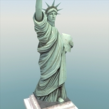 statue of liberty 3d model 3ds max fbx ma mb texture obj 99285