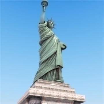 statue of liberty 3d model 3ds max fbx ma mb texture obj 99287