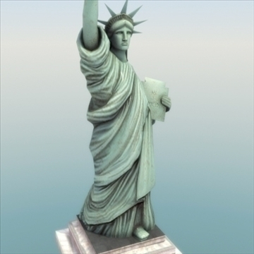 statue of liberty 3d model 3ds max fbx ma mb texture obj 99288