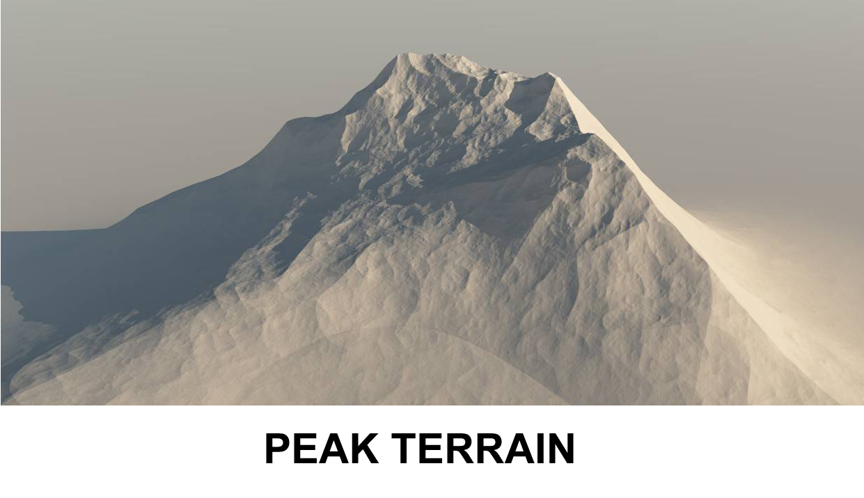 terrain peak 3d model 3ds c4d lwo obj 118410