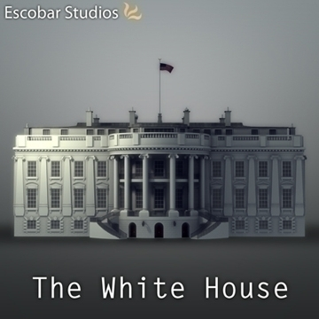 the white house 3d model 3ds max dxf fbx ma mb obj 91454