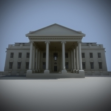 the white house 3d model 3ds max dxf fbx ma mb obj 91455