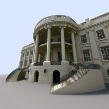 the white house 3d model 3ds max dxf fbx ma mb obj 91457