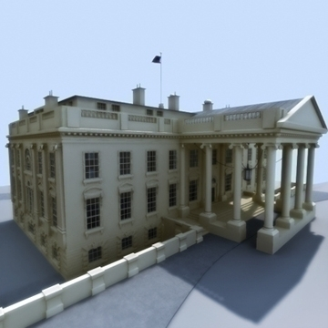 the white house 3d model 3ds max dxf fbx ma mb obj 91459