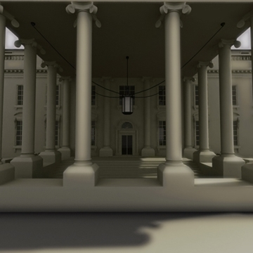 the white house 3d model 3ds max dxf fbx ma mb obj 91460