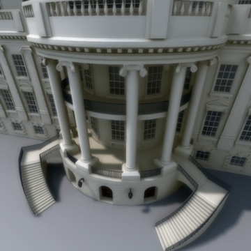 the white house 3d model 3ds max dxf fbx ma mb obj 91461