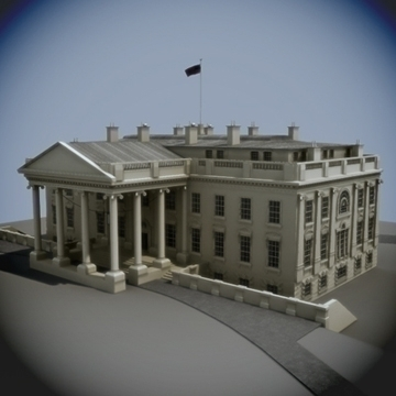 the white house 3d model 3ds max dxf fbx ma mb obj 91462