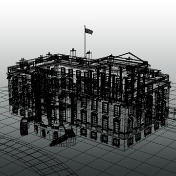 the white house 3d model 3ds max dxf fbx ma mb obj 91463