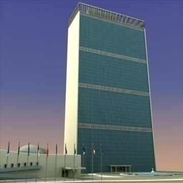 united nations building nyc 3d model 3ds max fbx lwo ma mb hrc xsi texture obj 100463