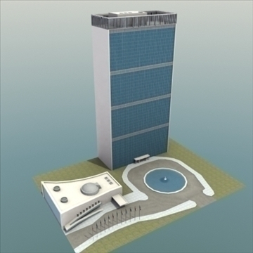 united nations building nyc 3d model 3ds max fbx lwo ma mb hrc xsi texture obj 100464