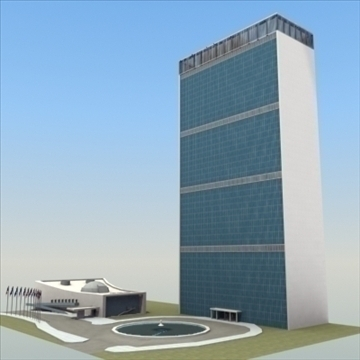 united nations building nyc 3d model 3ds max fbx lwo ma mb hrc xsi texture obj 100467