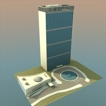 united nations building nyc 3d model 3ds max fbx lwo ma mb hrc xsi texture obj 100468