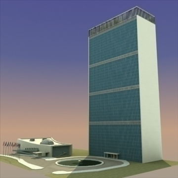 united nations building nyc 3d model 3ds max fbx lwo ma mb hrc xsi texture obj 100470