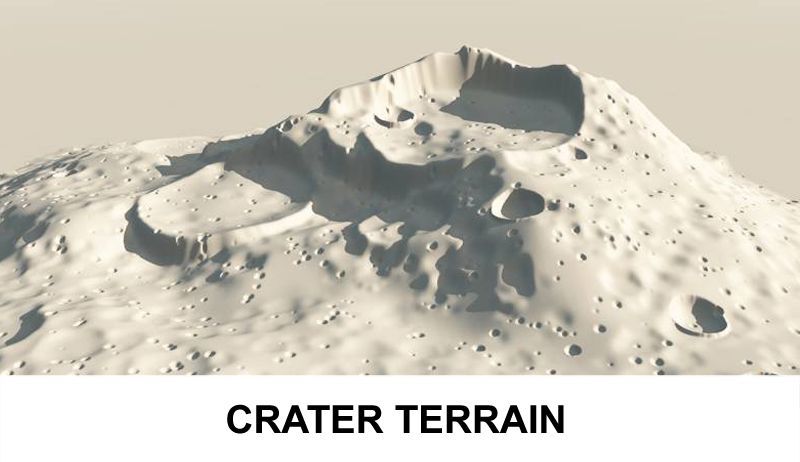 terrain crater 3d model 3ds c4d lwo obj 121035
