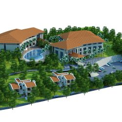 3d model moutain resort hotel 3d model 0