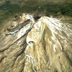 3D Model of Mt Shasta ( 87.75KB jpg by SpookyCat )