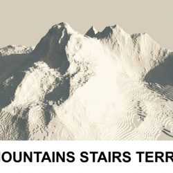 3d Terrain Mountains with stairs ( 191.06KB jpg by rmodeler )