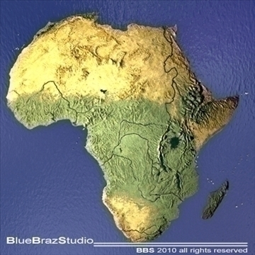 africa 3d model 3ds dxf c4d obj 102535